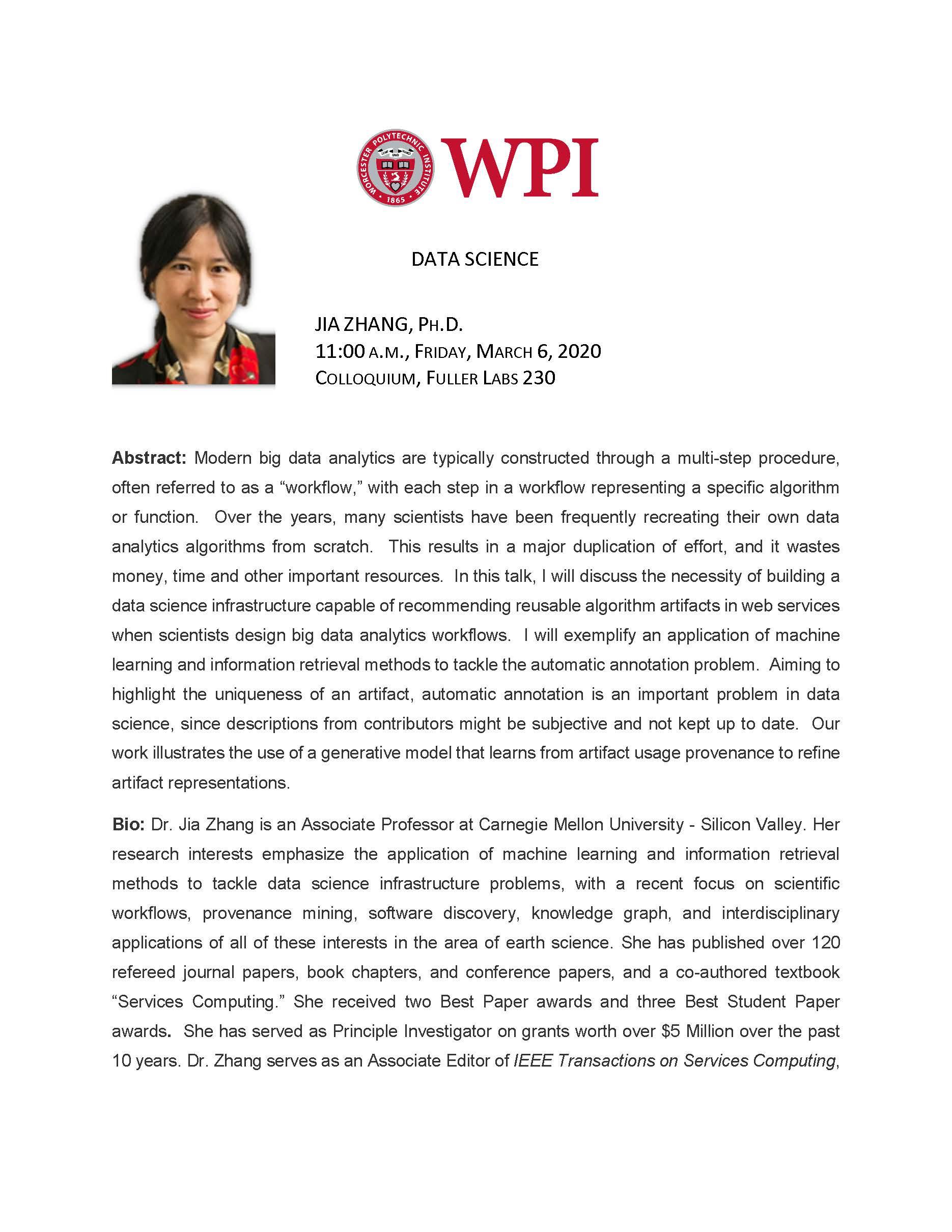 Jia Zhang, Ph.D. alt
