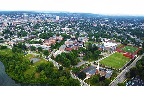 WPI campus in Worcester Massachusetts