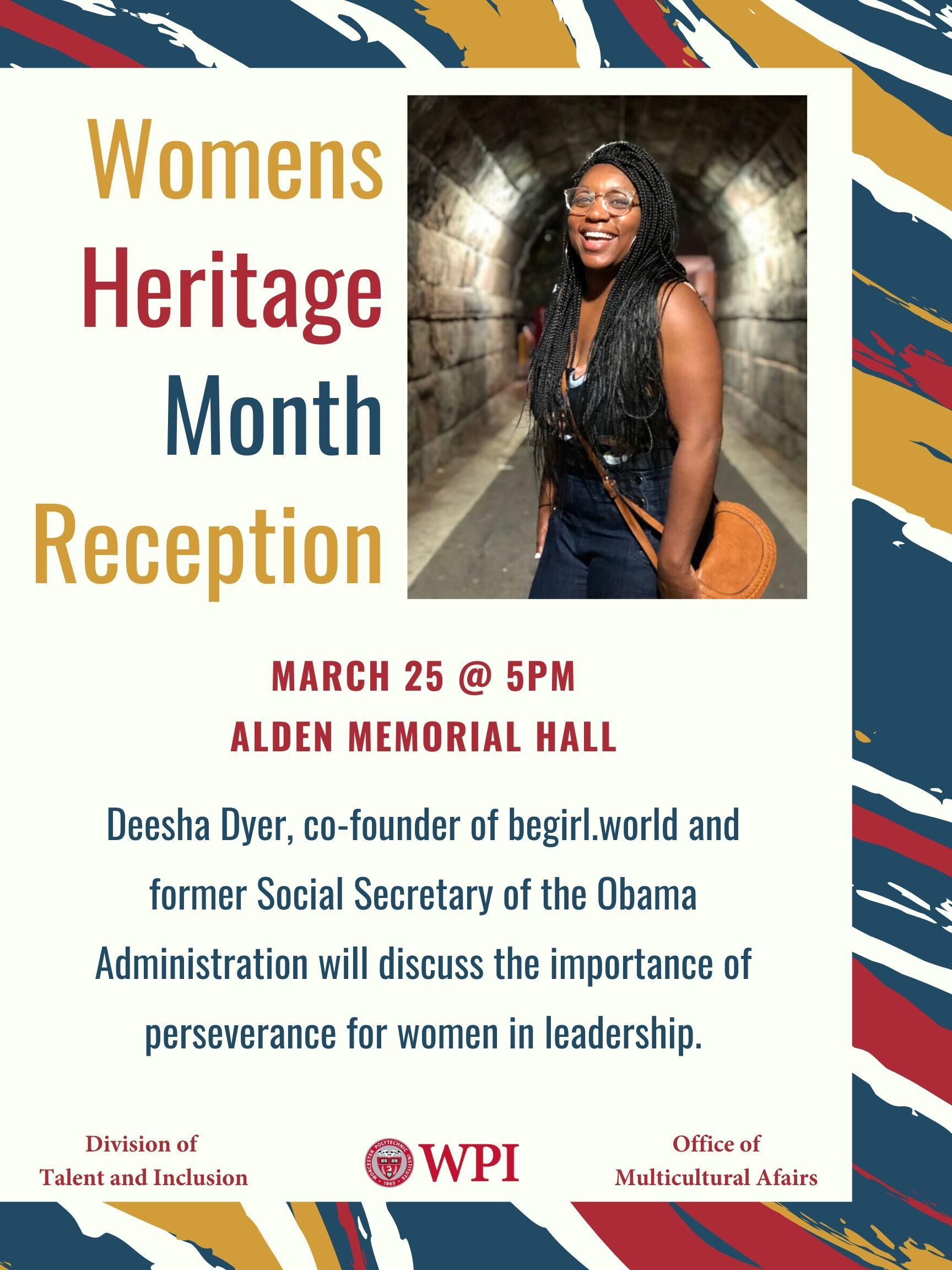 Deesha Dyer Women's Heritage Month Reception