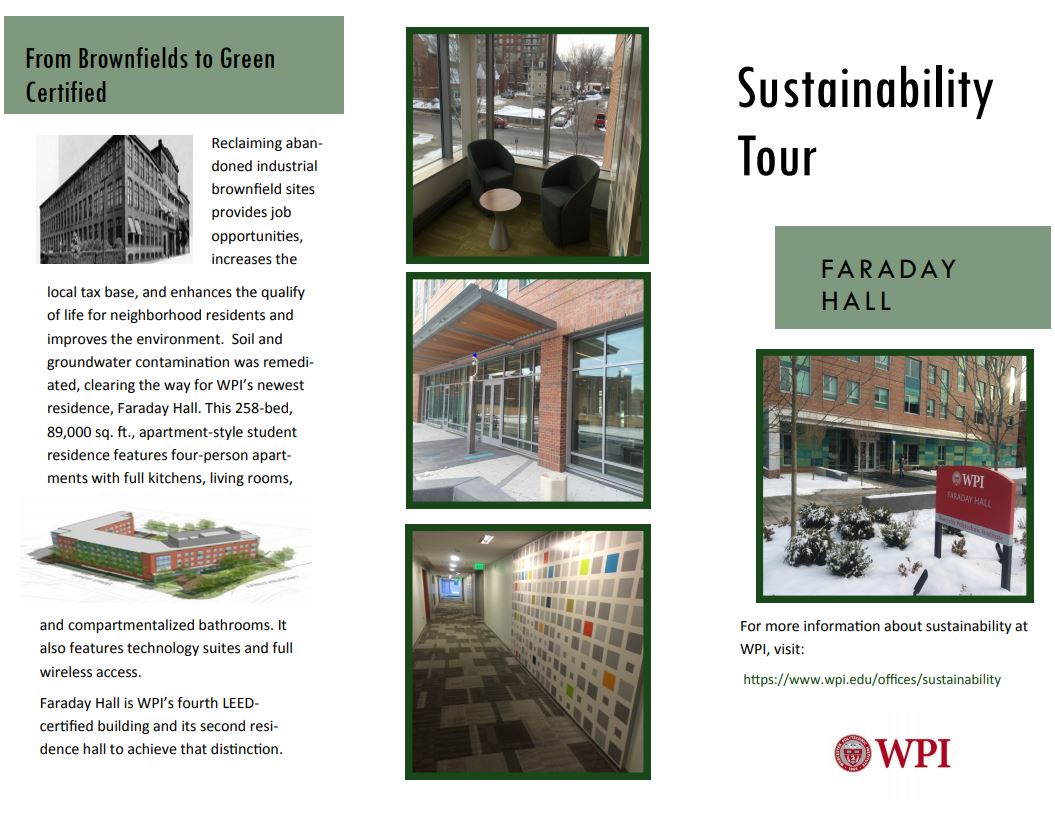 Faraday Sustainability Tour Page 1