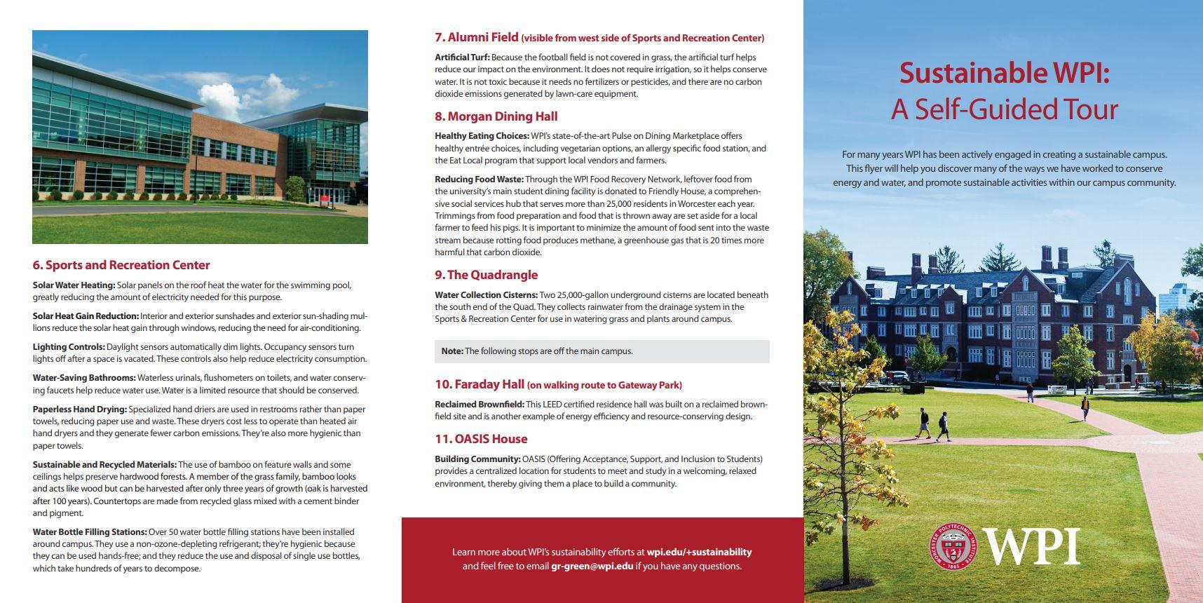 WPI Sustainability Tour Page 1
