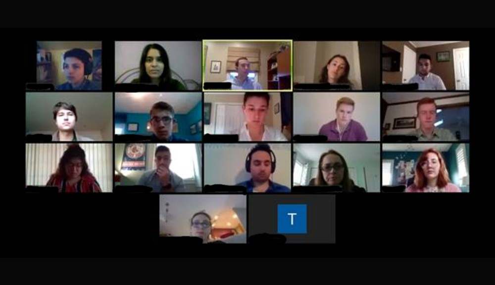 A screenshot of the SGA's latest meeting, held over Zoom.