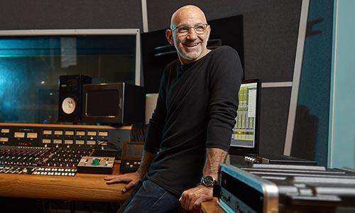 WPI alumni at recording studio in Nashville