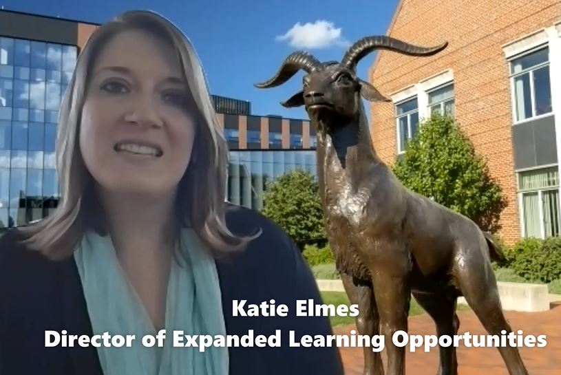 Katie and the goat
