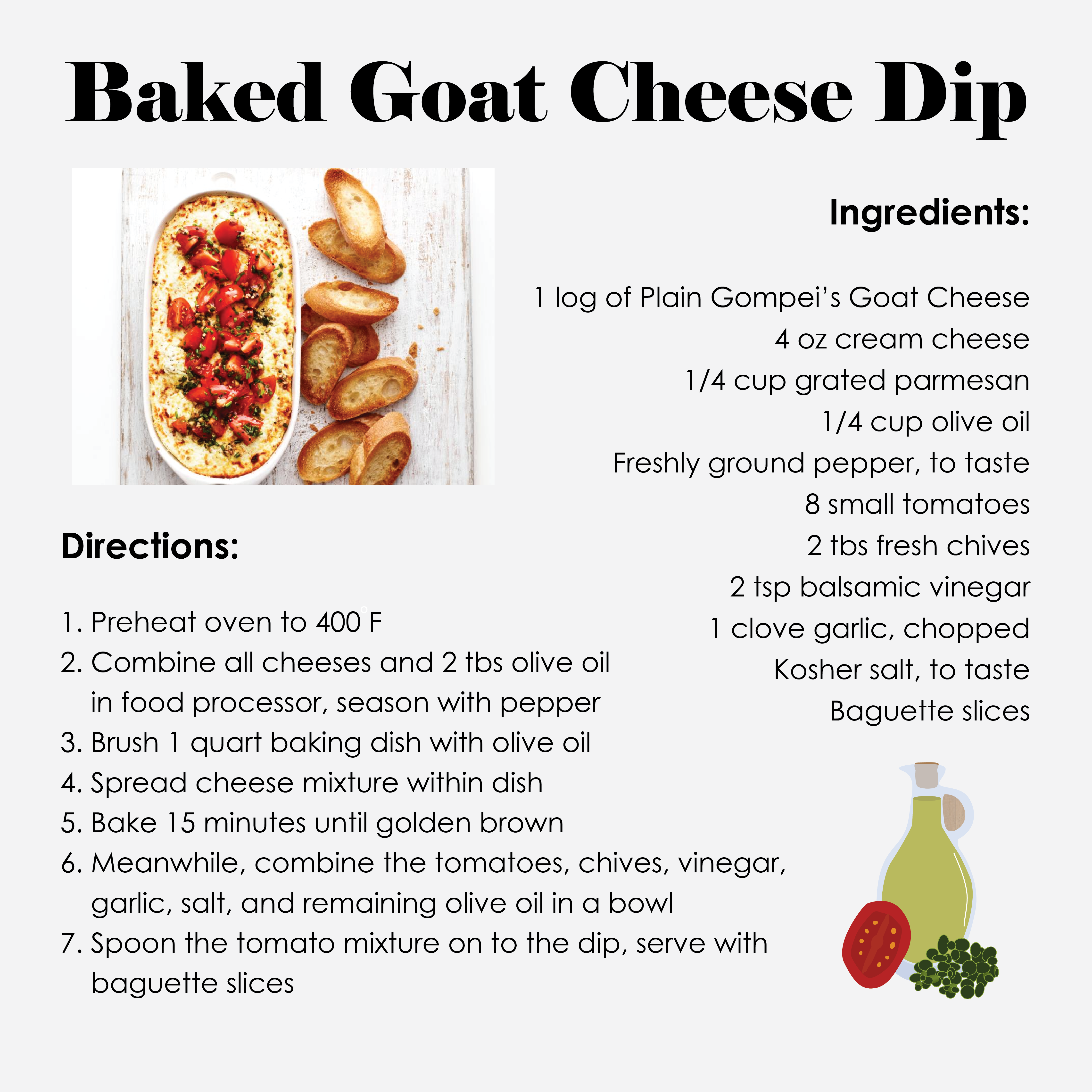 A Recipe for Baked Goat Cheese Dip