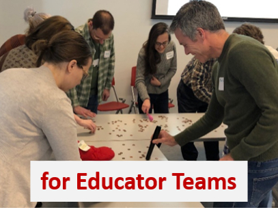Educator teams working on professional development skills