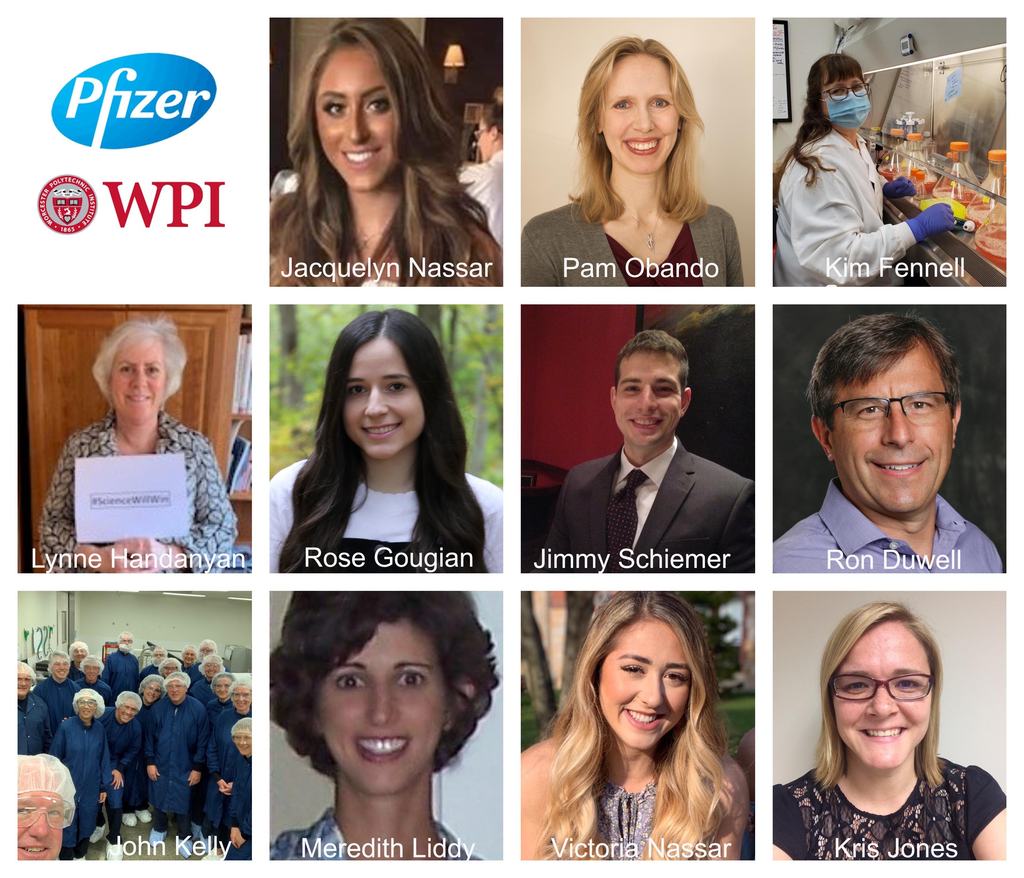 WPI alumni working at Pfizer