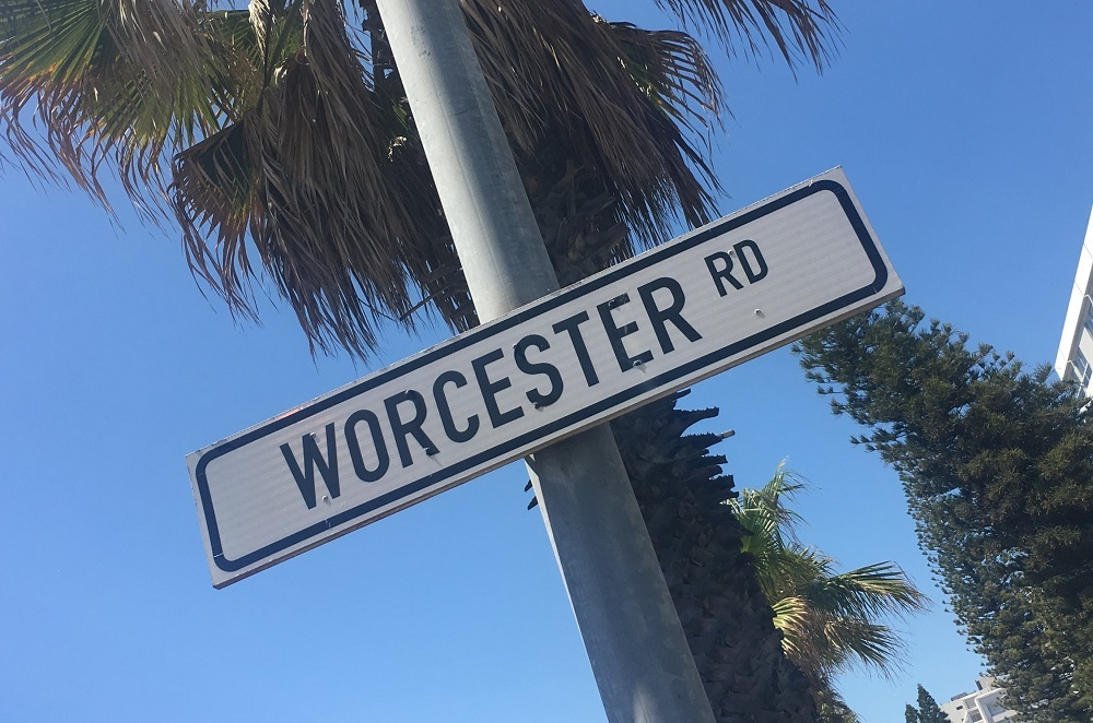 Street sign in South Africa