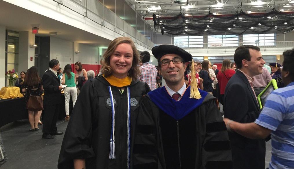 Jessica Rosewitz and Assoc. Prof. Nima Rahbar Grad Commencement 2016