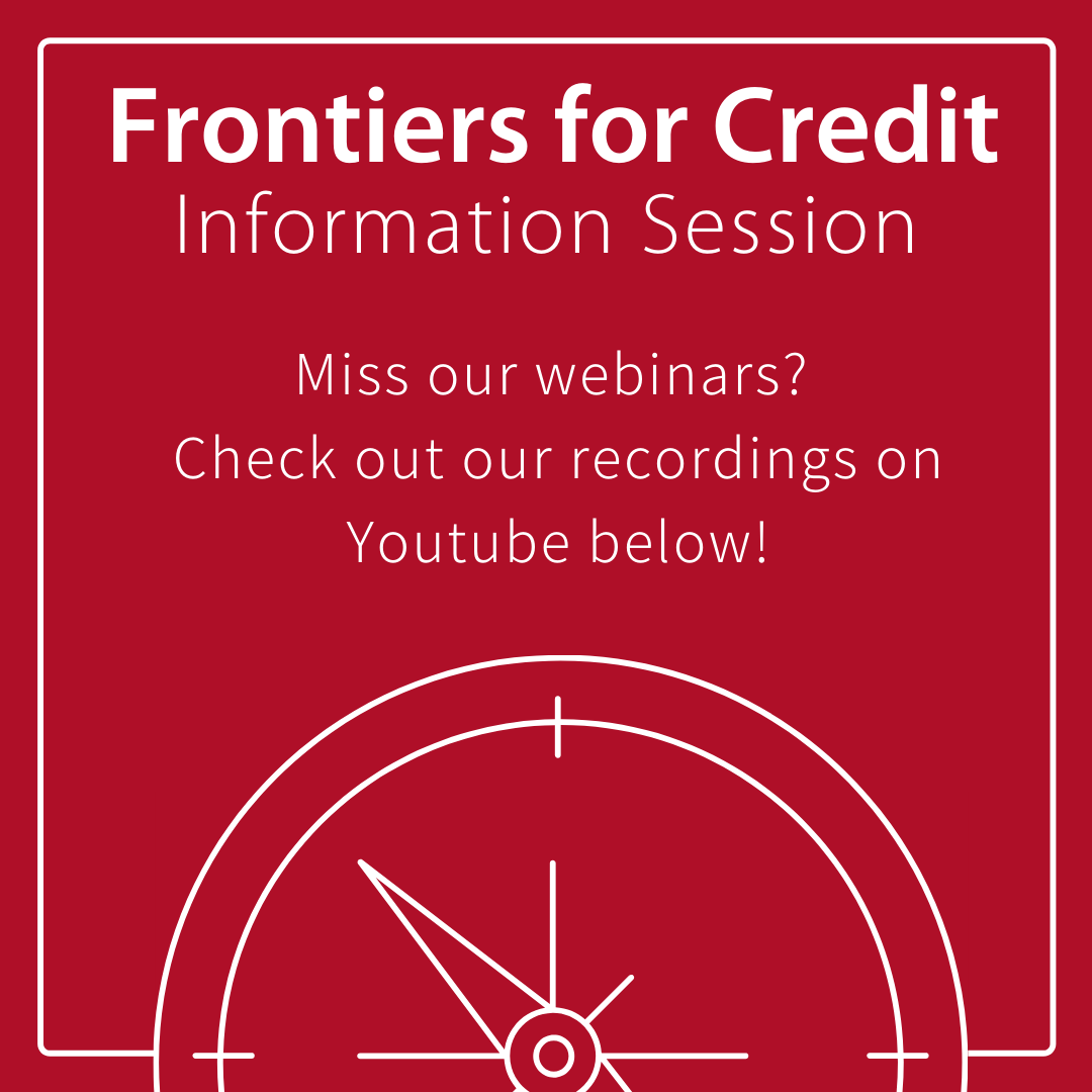 frontiers webinar graphic promoting youtube videos