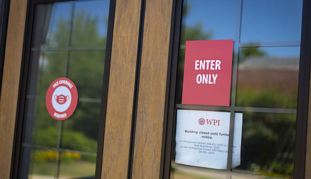 WPI health safety campus