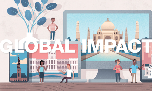 Global Impacts: How students and faculty did their global projects from home
