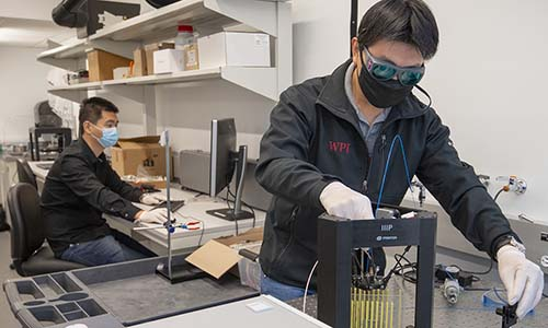 WPI researchers back on campus