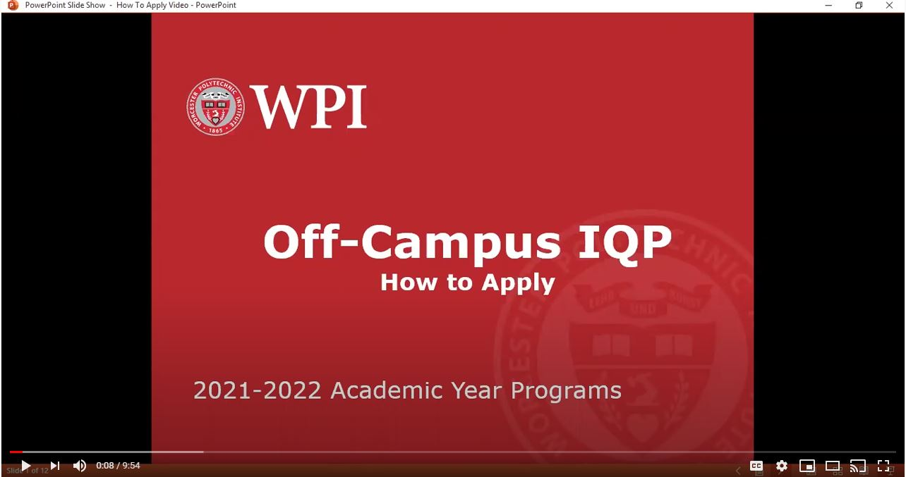 Interactive Qualifying Project (IQP) | Project Opportunities | Off