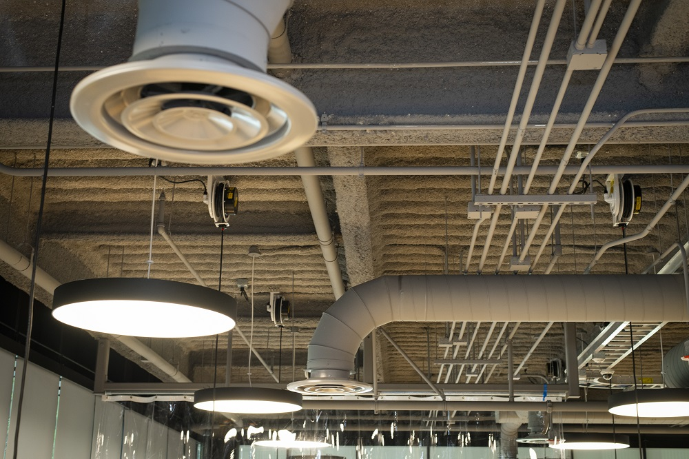 Air flow is being increased in campus buildings with mechanicl ventilation.