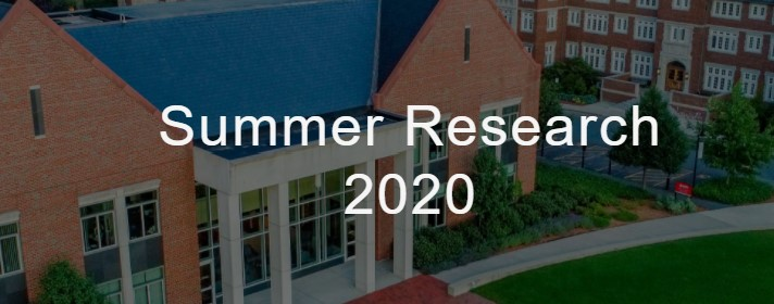 Summer Research Logo with the bartlett center in the background