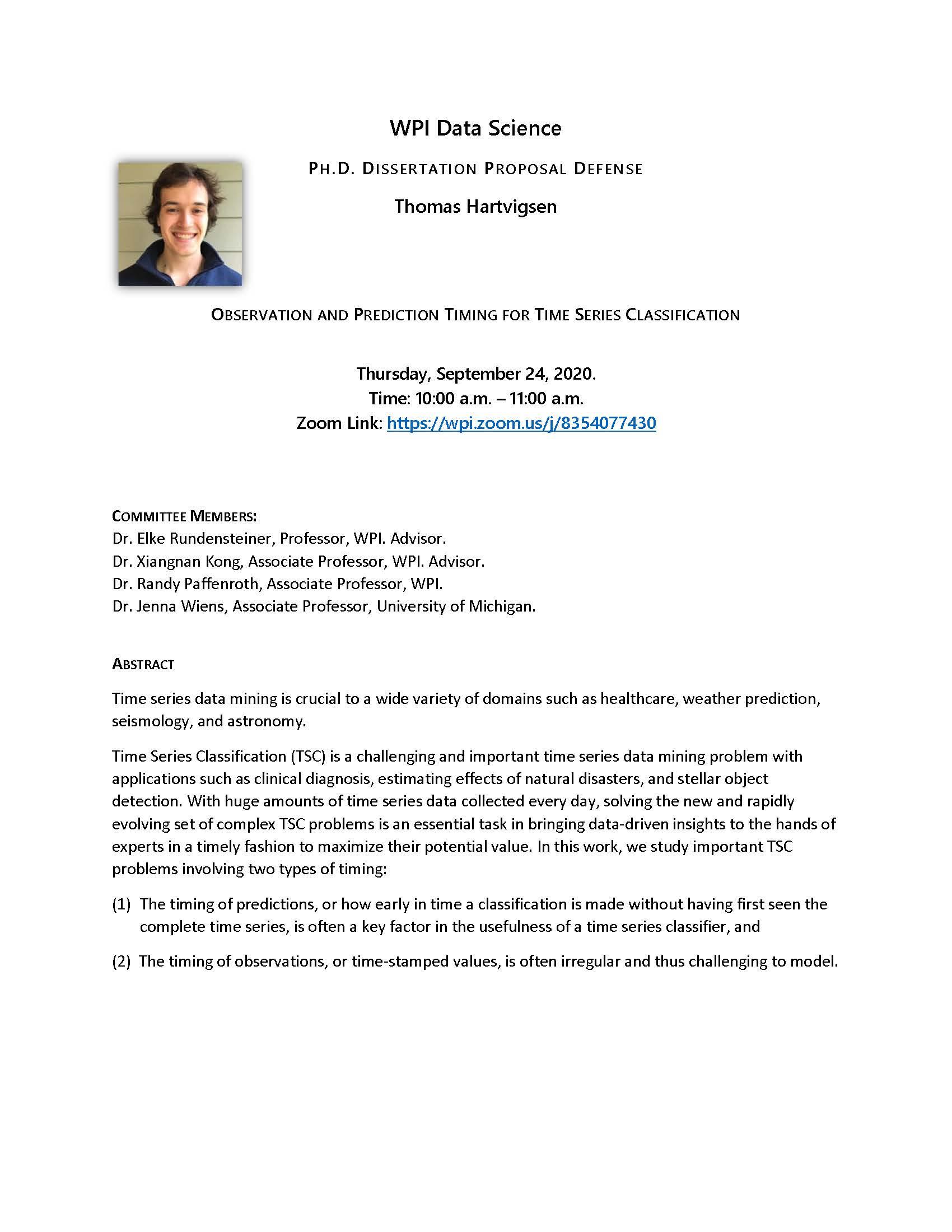 Tom Hartvigsen Ph.D. Dissertation Proposal Defense alt