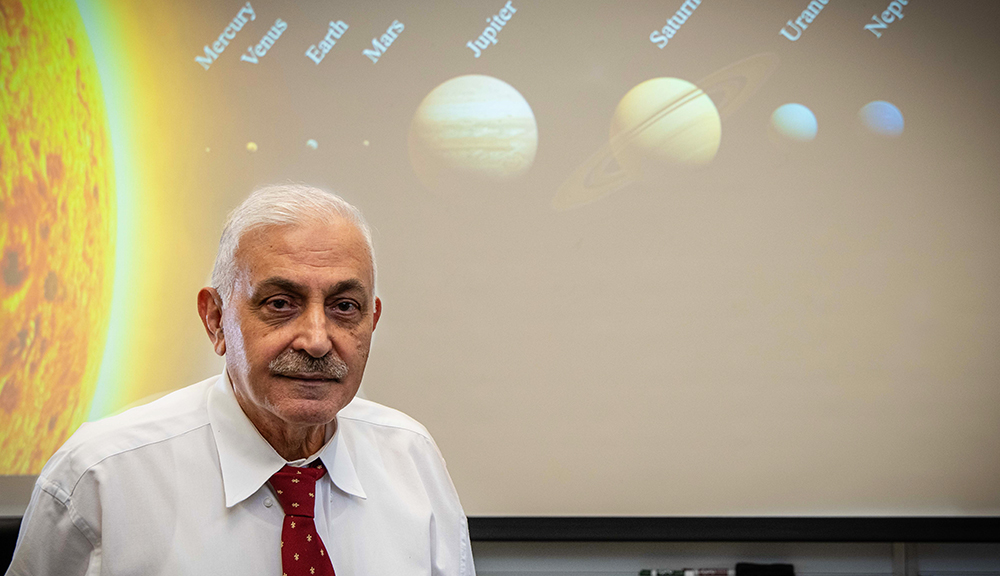 WPI mathematical physicist Mayer Humi has been studying the solar system for decades.