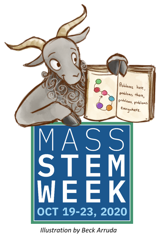 STEM I am teacher goat MA STEM Week logo
