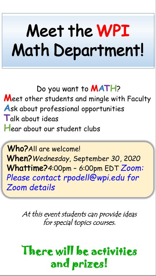 Meet The WPI Math Department