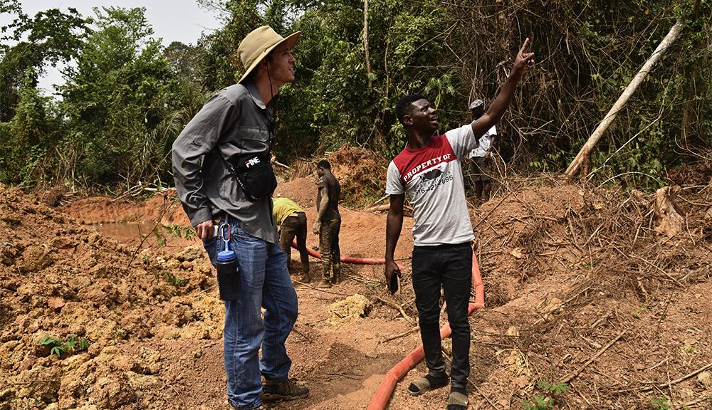 Artisinal gold mine in Ghana