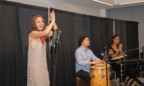 Musicians playing during Arts & Sciences Week