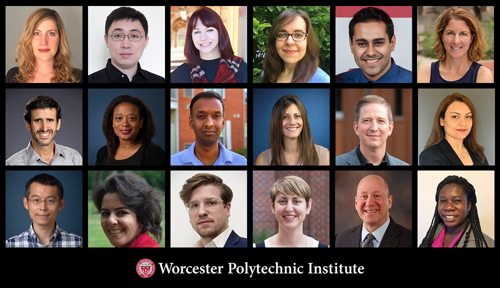 Individual photos of new WPI faculty members