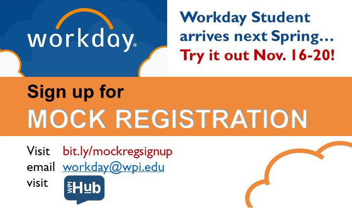Sign up for mock registration