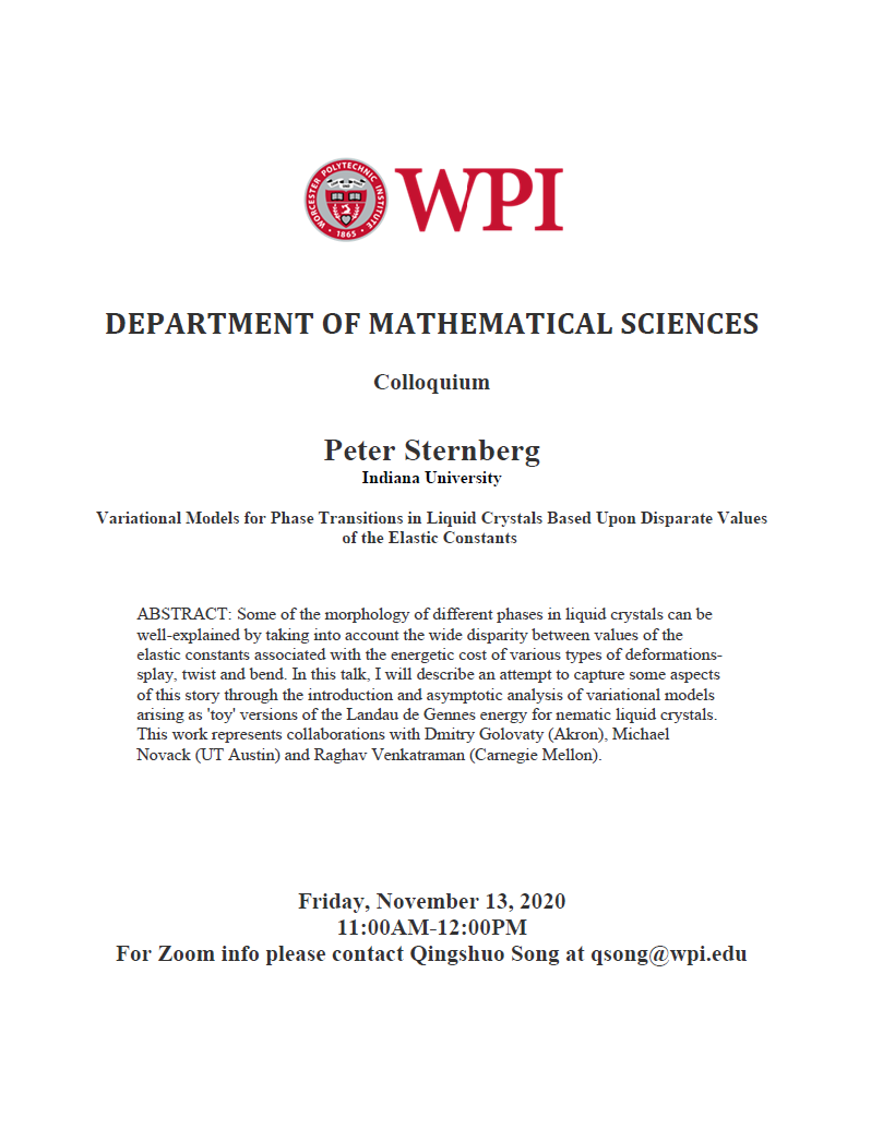 Colloquium Peter Sternberg
