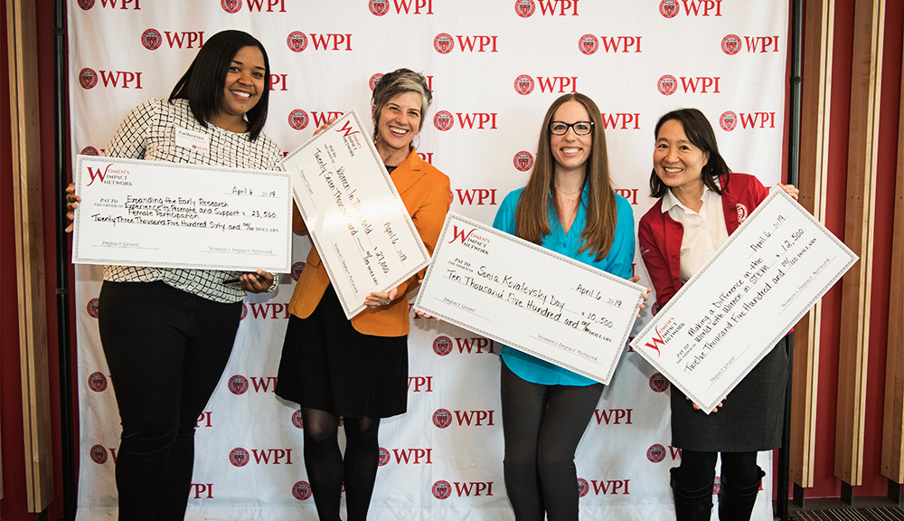 Catherine Wittington, Leslie Dodson, Andrea Arnold, and Kathy Chen received WIN Impact Grants in 2019