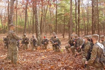 Cadet Alex Lima briefs cadets alt