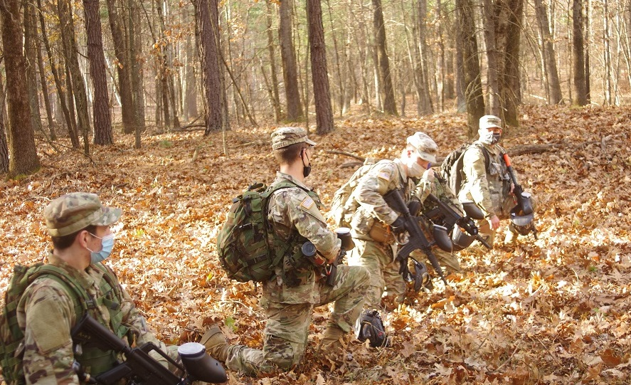 ROTC squad preparing for ambush alt