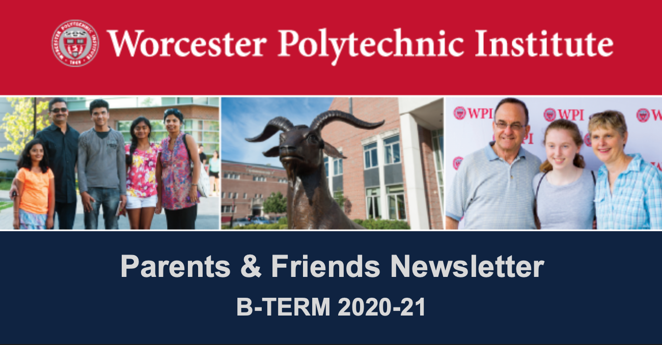 The header of the Parents & Friends B-Term email newsletter.