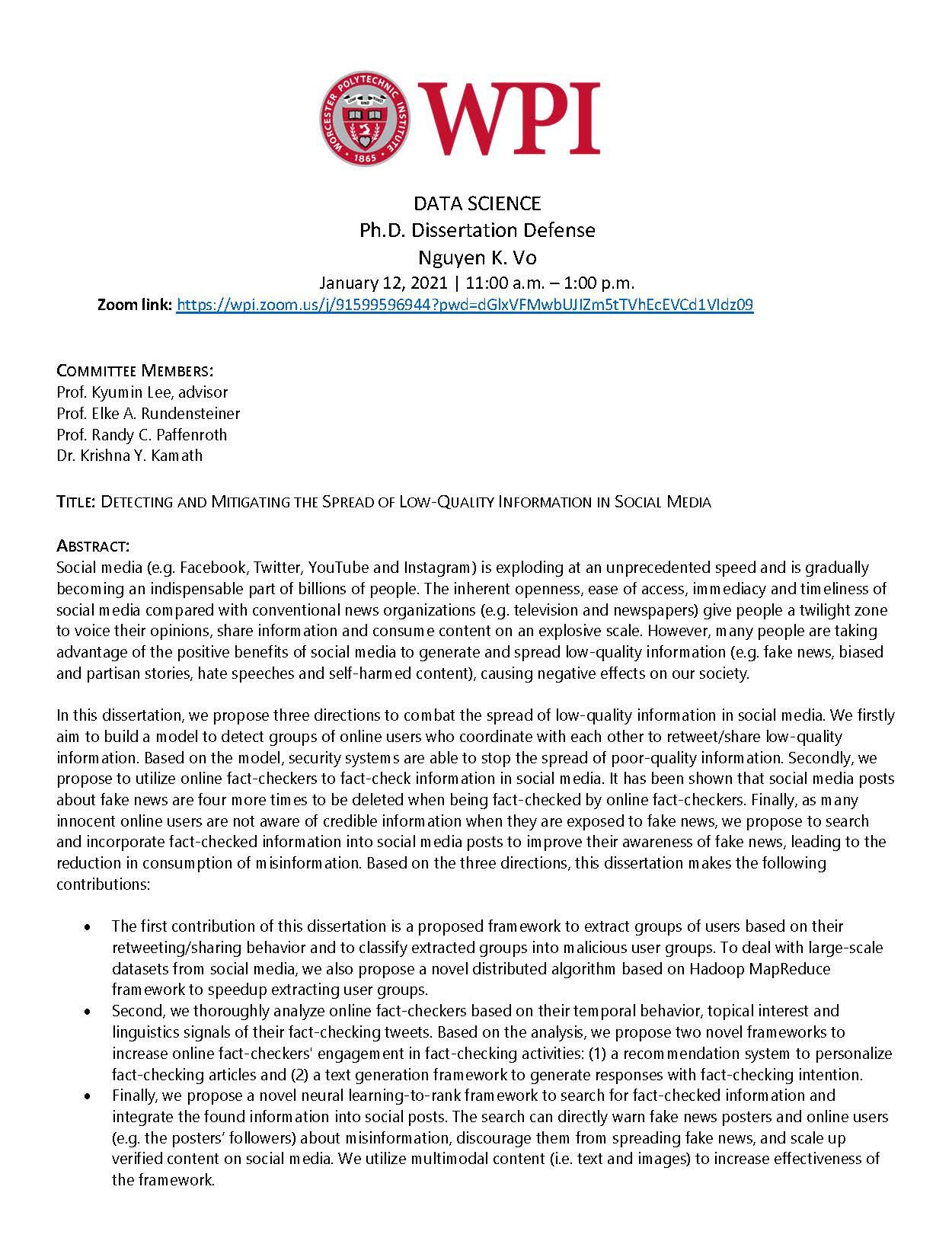 Ph.D. Dissertation Defense Nguyen K. Vo alt