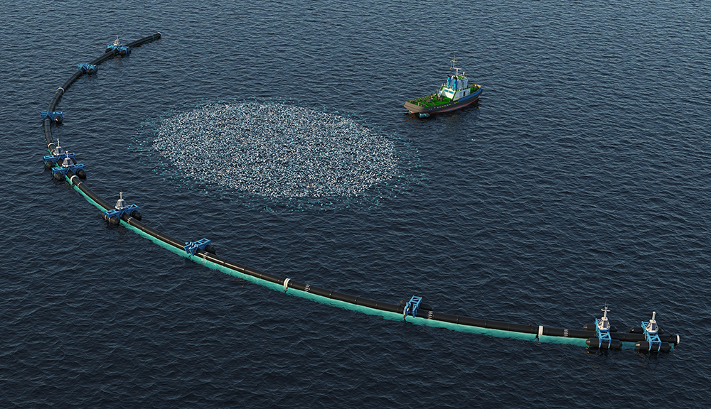 Hundreds of ships collect marine plastics from the ocean, and head back to port to refuel. Breaking down plastics into biofuels can help minimize the number of trips these ships make.