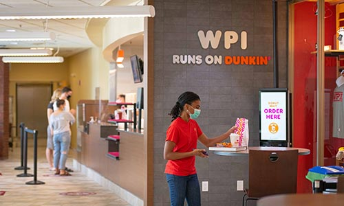 WPI Dunkin Donuts during COVID