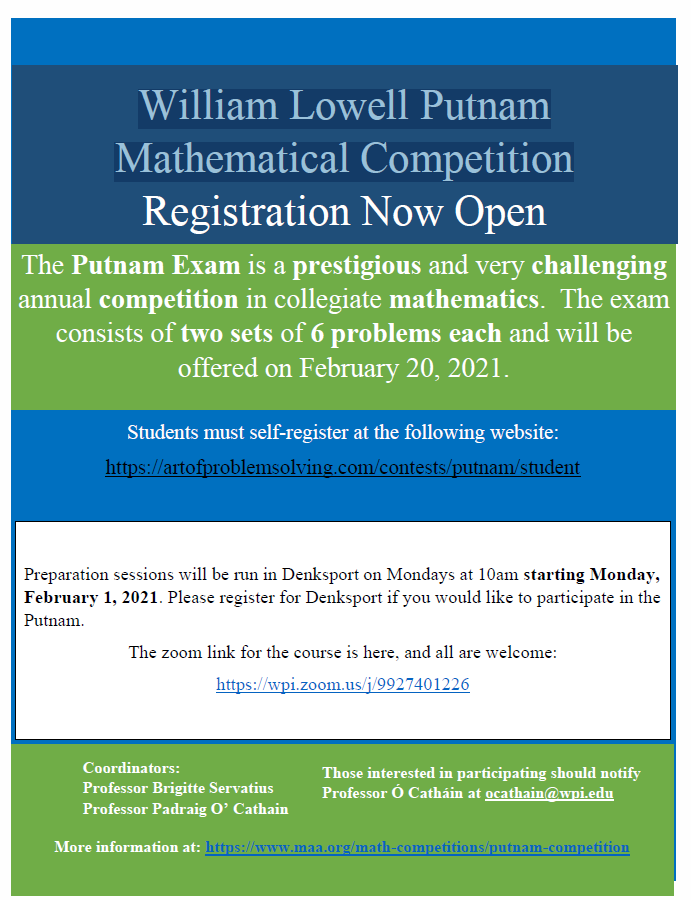 William Lowell Putnam Mathematical Competition