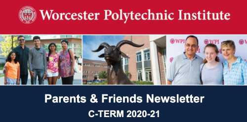 A screenshot of the Parents & Friends newsletter header for C-Term.
