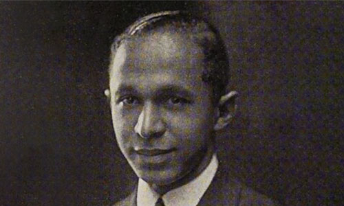 A black and white portrait of Naudin Oswell, WPI's first Black graduate.