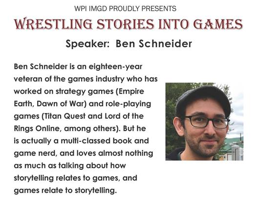 Ben Schneider speaker event flyer