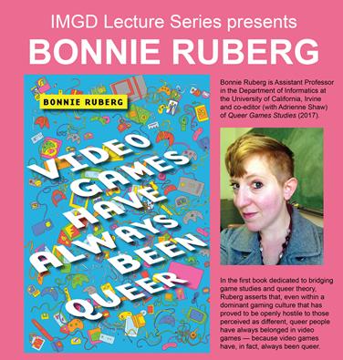 Bonnie Ruberg speaker event flyer