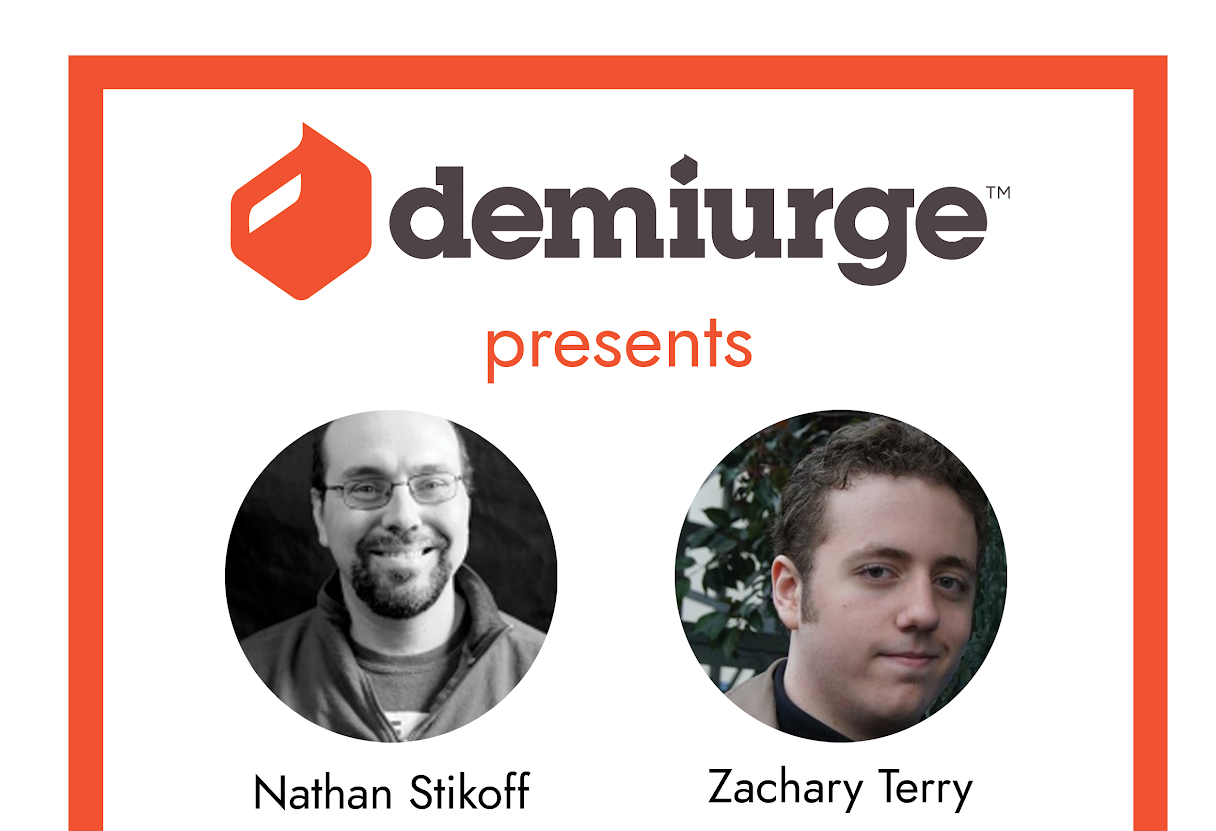 Demiurge Studios event flyer