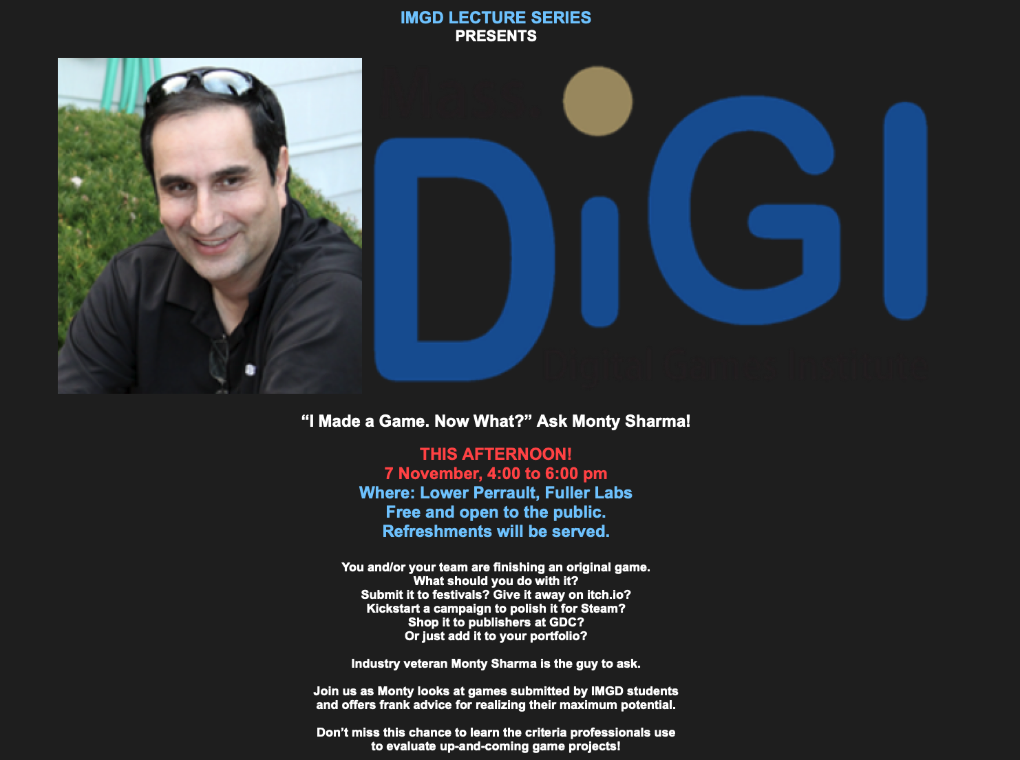 MassDiGI speaker event flyer