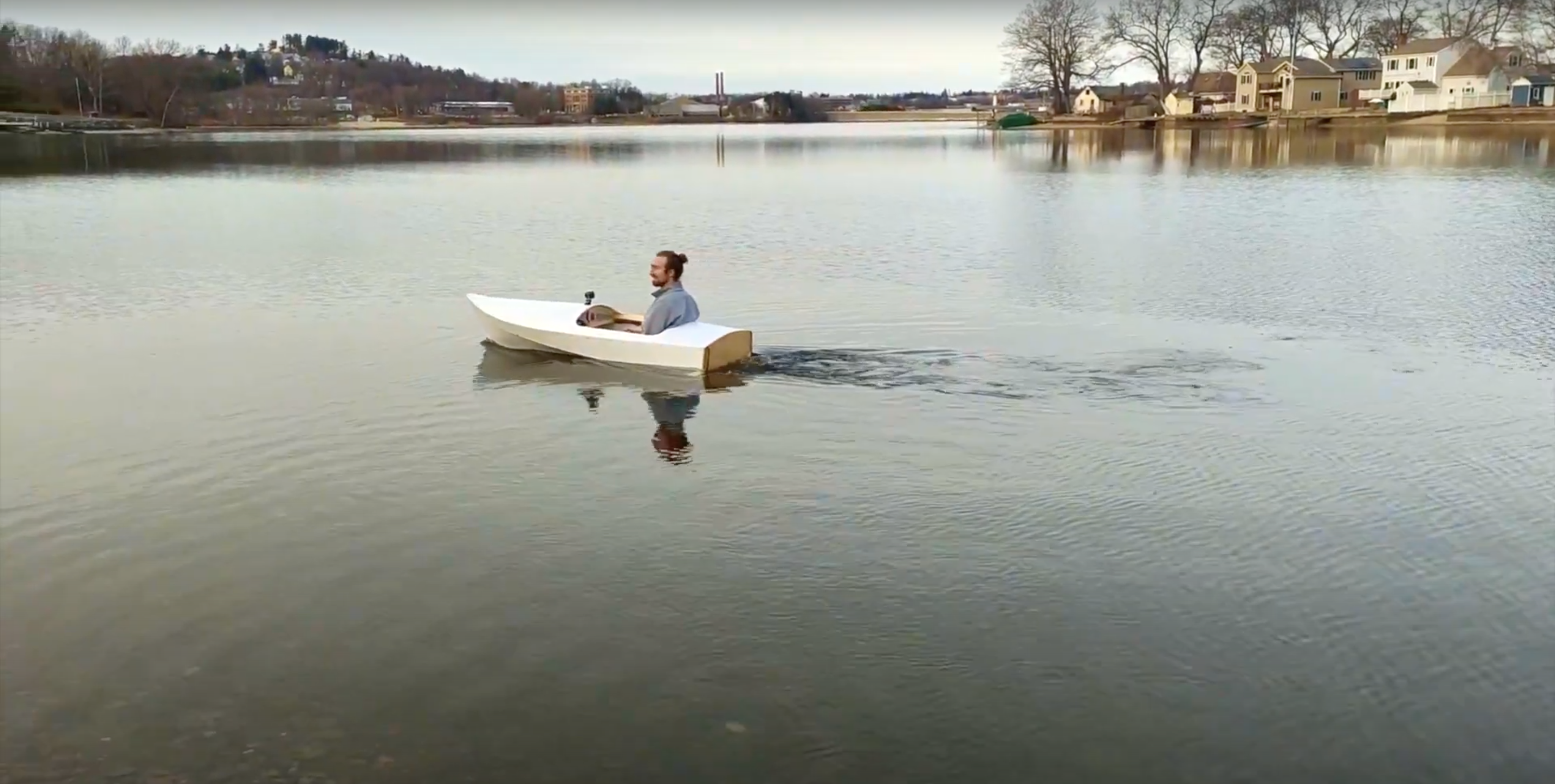 Getting the autonomous boat on the water.