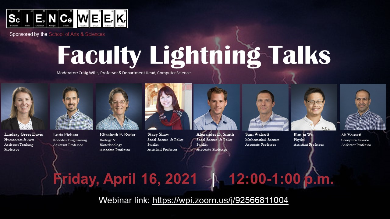 Faculty lightning talks