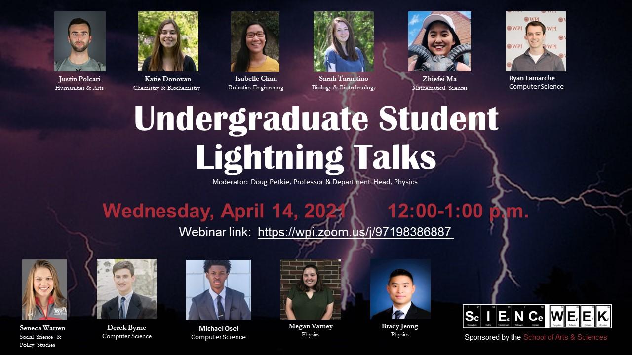 Undergraduate Student Lightning Talks 2021