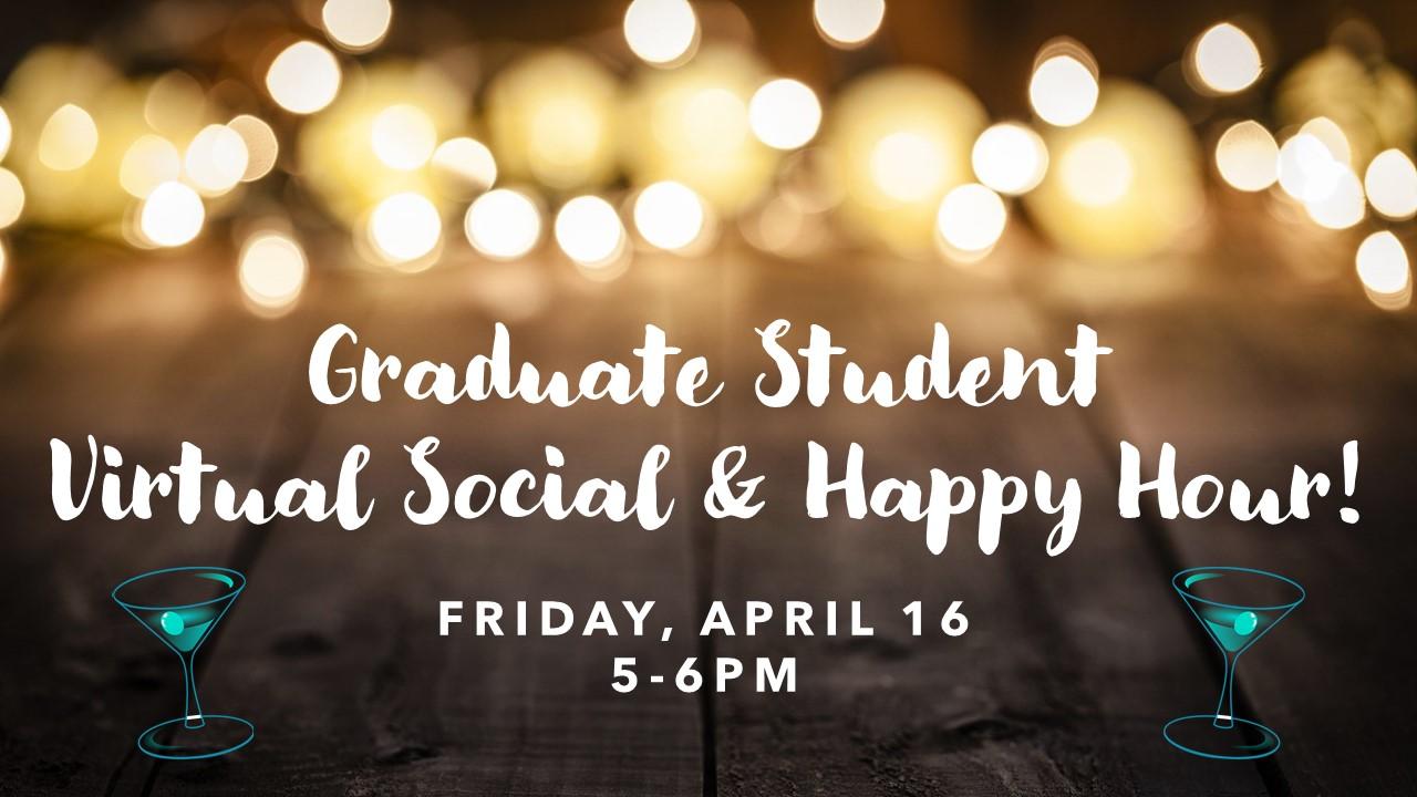 Virtual Social & Happy Hour flyer