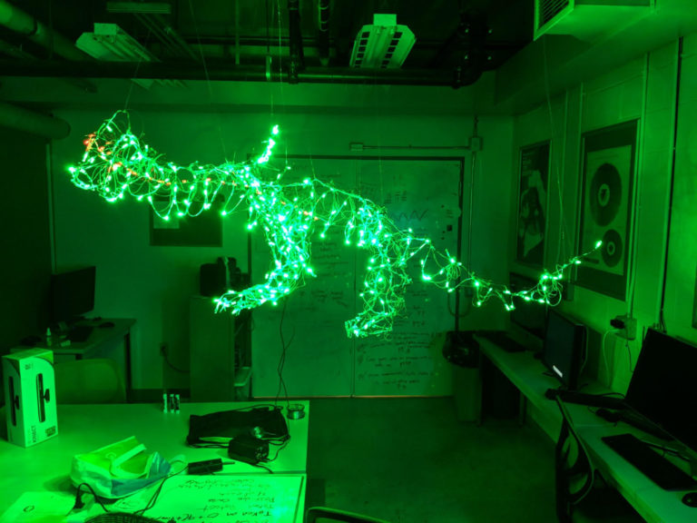 Light dragon project created in the IMGD Fablab