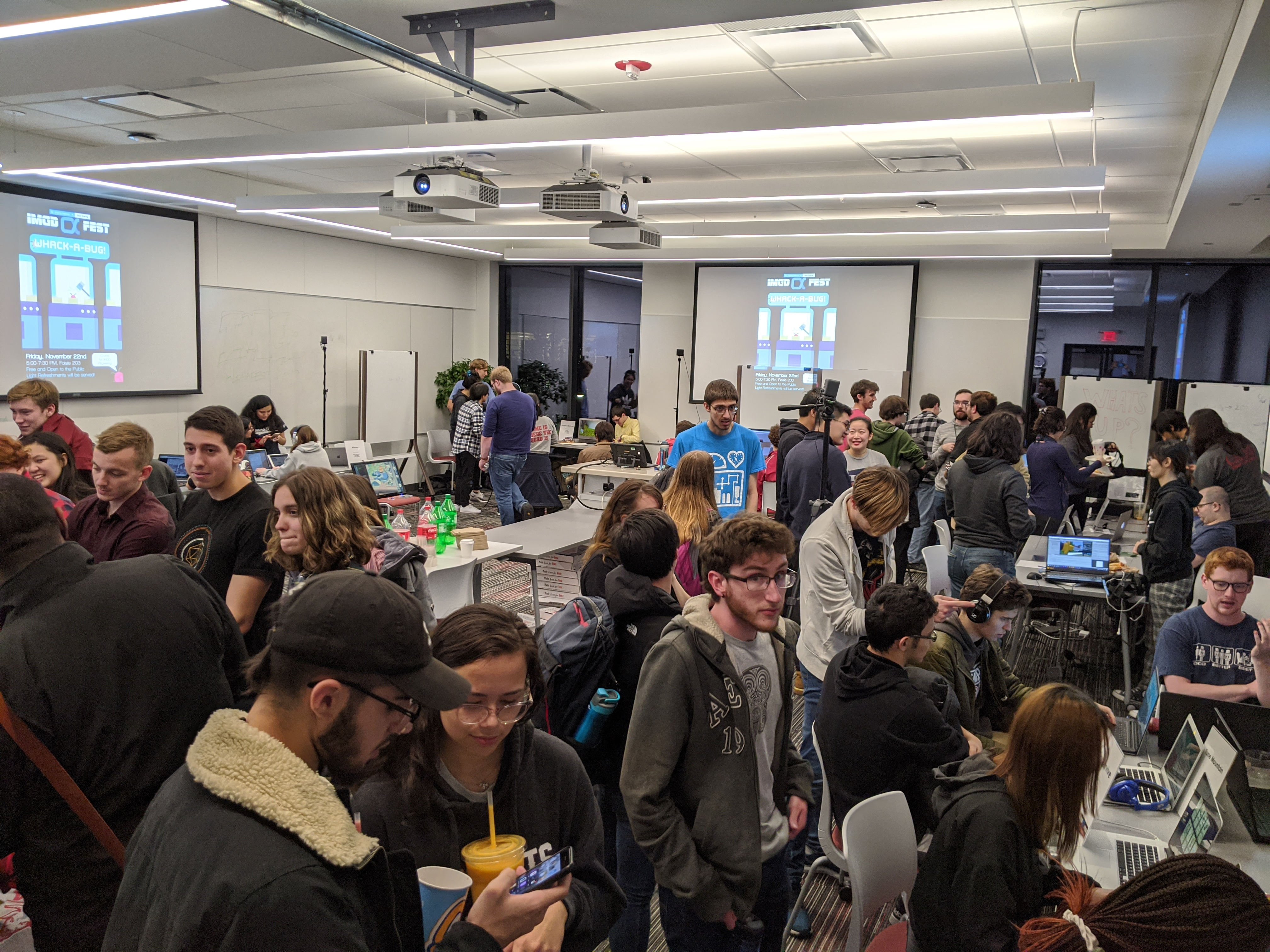 IMGD students at Alphafest in 2019