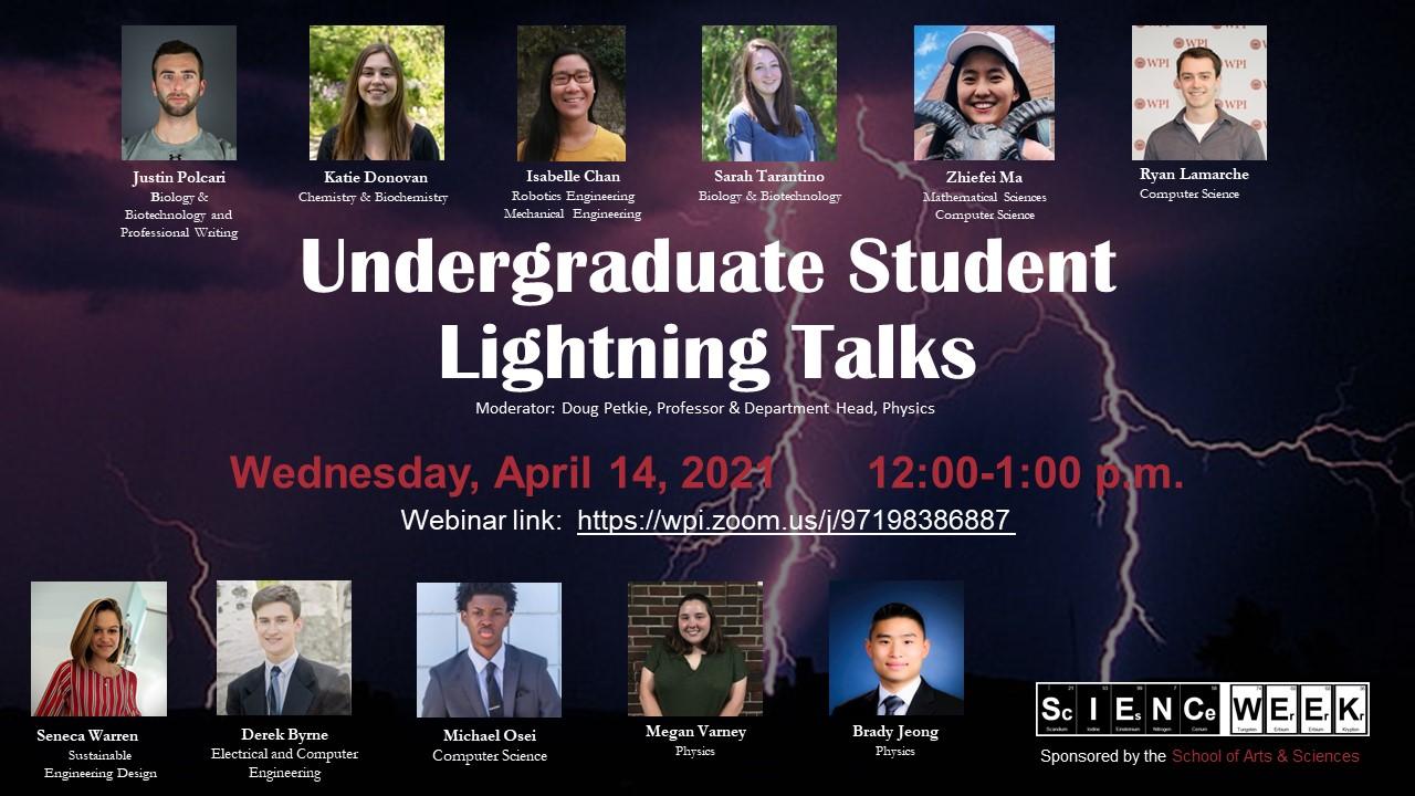 Undergraduate Lightning Talks
